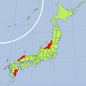 日本の砒素汚染マップ