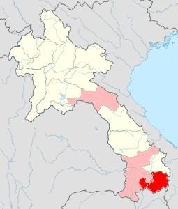 ラオスの砒素汚染地図