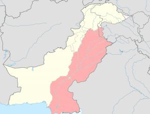パキスタンの砒素汚染マップ
