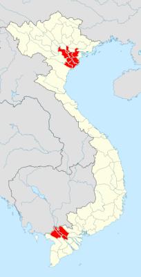 ベトナム砒素汚染地図